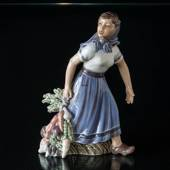 Gartner Girl with Vegetables, Dahl Jensen Figurine