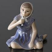 "Girl ""Jette"" with Candle figurine Dahl Jensen"