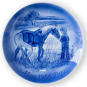 Meeting in the meadow 1986, Desiree Mothers Day plate Svend Jensen of Denmark | Year 1986 | No. DM1986 | Alt. DM860 | DPH Trading