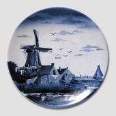 "Plate, ""Dutch Windmill behind houses"""