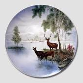 Villeroy & Boch, Plate no. 3148-1 Ø30cm Red Deer