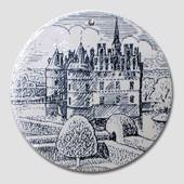 "Butter-board with ""The Egeskov Castle"", blue, Nymolle"