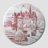 "Butter-board with ""The Egeskov Castle"", red"
