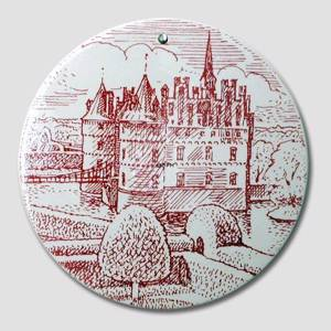 Butter-board with The Egeskov Castle , red, Nymolle | No. DV1656 | Alt. DV.1656 | DPH Trading