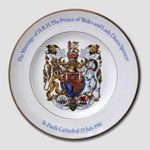Weddingplate The Prince of Wales and Lady Diana Spencer , Wood & Sons | No. DV1838 | Alt. DV.1838 | DPH Trading