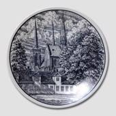 Churchplate with the Roskilde Cathedral, Kera Porcelain