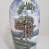 Large old vase with Landscaping from EICHWALD 49 CM