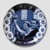 Memorial plate Queen Margrethe and Prins Henriks Silver Wedding 1967-1992