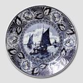 Plate with Sailing ships