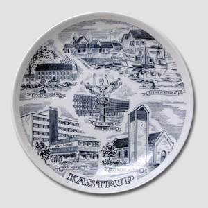 Plate with Kastrup motif, Krone Porcelain | No. DV2015 | DPH Trading