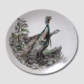 Plate with Turkeys