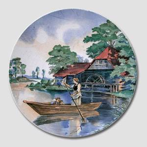 Plate no. 3288 Old watermill with boat, Villeroy & Boch | No. DV2075 | DPH Trading