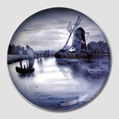 Plate with a Dutch Canal 23cm