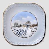Plate with Winter Scenery