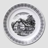 "Plate with ""The Margrethe Cottage"""