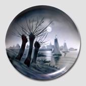 Plate with Pillow Trees