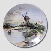 Ceramics plate with Dutch Mill