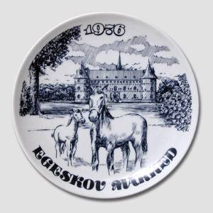 Plate with The Egeskov Fair various, from 1976 to 1993 / each, Svane Porcelæn | Year 1976 | No. DV3019 | Alt. DV.1643 | DPH Trading