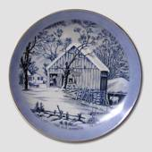 Plate with The Old Homestead in Winter