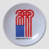 Bicentenary of USA plate