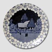 Christmas plate with church
