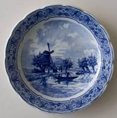 Plate with Mill and Ship