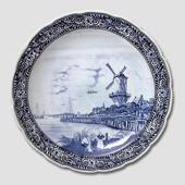 Plate with Dutch Mill