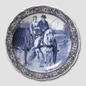 Plate with Horsecarriage, Delft