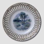 Plate with Trees, openwork rim