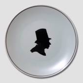 Plate, Silhouette of Hans Christian Andersen