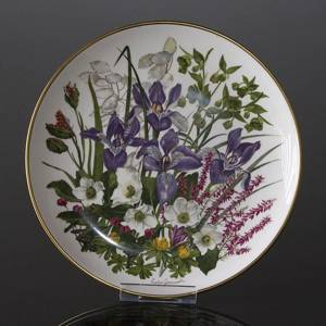 Franklin Porcelain, Wedgwood, Plate with Flowers of the year coll. January
