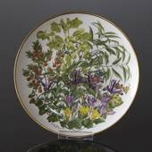Franklin Porcelain, Wedgwood, Plate with Flowers of the year coll. February