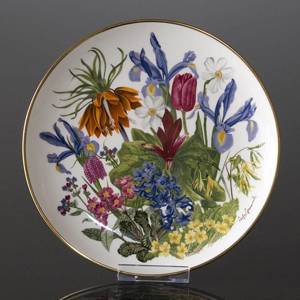 Franklin Porcelain, Wedgwood, Plate with Flowers of the year coll. April
