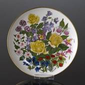 Franklin Porcelain, Wedgwood, Plate with Flowers of the year coll. June