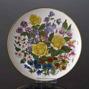 Franklin Porcelain, Wedgwood, Plate with Flowers of the year coll. June | No. DV3087-06 | DPH Trading