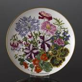 Franklin Porcelain, Wedgwood, Plate with Flowers of the year coll. August