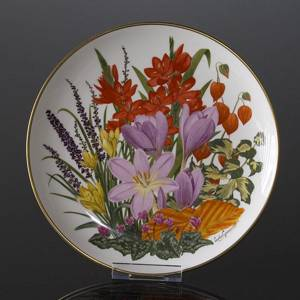 Franklin Porcelain, Wedgwood, Plate with Flowers of the year coll. November | No. DV3087-11 | DPH Trading
