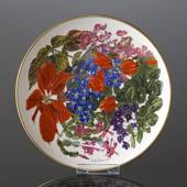 Franklin Porcelain, Wedgwood, Plate with Flowers of the year coll. December