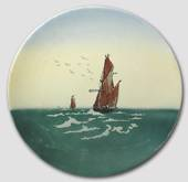 Plates with ships, set of 2 pcs. ø 30 cm