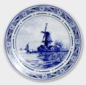 Plate with Landscape with windmill no. 2036