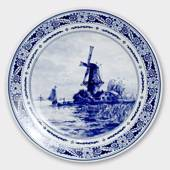 Plate with Landscape with windmill no. 2036, Delft