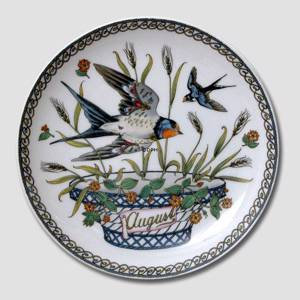 "Hutschenreuter Monthly plate ""August"""