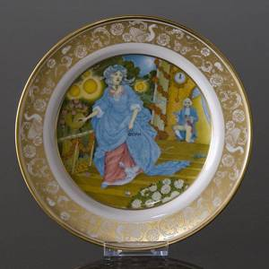 Franklin Porcelain, Plate in the plate collection Grimm Fairy Tales no. 11 | No. DV3111-11 | DPH Trading