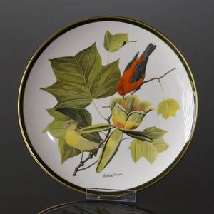 Franklin Porcelain Wedgwood, 1977, Songbirds of the World, Scarlet Tanager