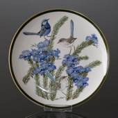 Franklin Porcelain Wedgwood, 1977, Songbirds of the World, Turquoise Wren