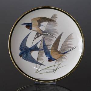 Franklin Porcelain Wedgwood, 1977, Songbirds of the World, Barn Swallow | No. DV3112-09 | DPH Trading