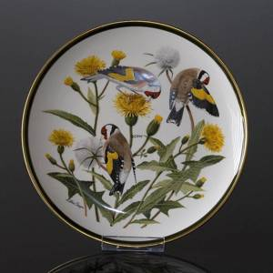 Franklin Porcelain Wedgwood, 1977, Songbirds of the World, European Goldfinch | No. DV3112-11 | DPH Trading