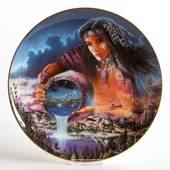 Royal Doulton plate with nativ American motif: The Waters of Life