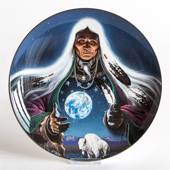 Royal Doulton plate with nativ American motif: Dream Weaver