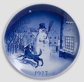 The Snow Man - 1977 Desiree Hans Christian Andersen Christmas plate